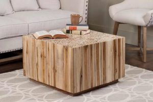 SQUARE WOOD COFFEE TABLE INSPIRATION