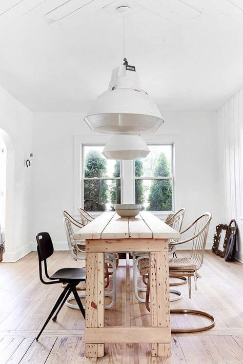 TIMELESS NATURAL WOOD DINING TABLE DESIGN IDEAS