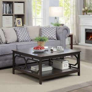 TRADITIONAL SQUARE WOODEN COFFEE TABLE