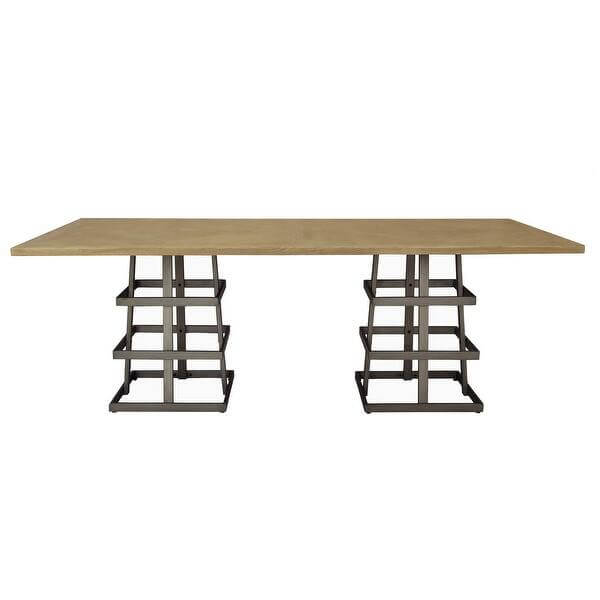 UNIQUE LEGS DECOR FOR NATURAL WOOD DINING TABLE