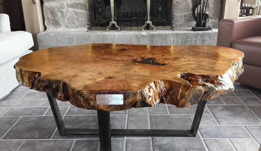 AWESOME WOOD SLICE COFFEE TABLE