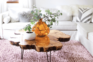 BEAUTIFUL WOOD SLICE COFFEE TABLE