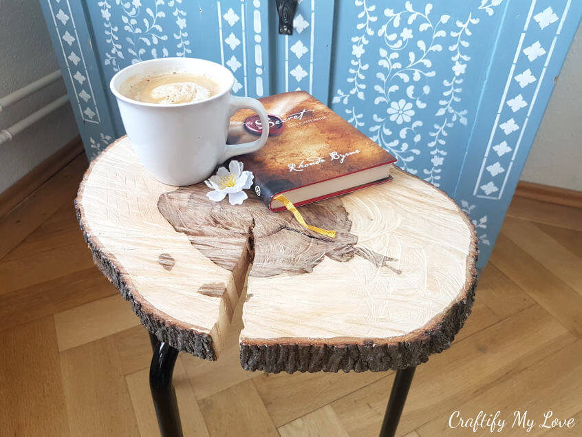 BEAUTY IN IMPERFECTION WOOD SLICE COFFEE TABLE