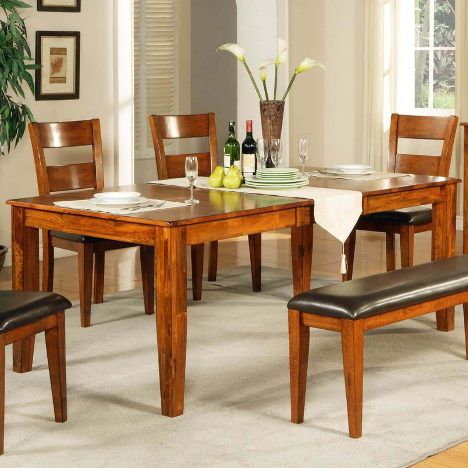 BENEFITS MANGO WOOD BUTTERFLY LEAF DINING TABLE