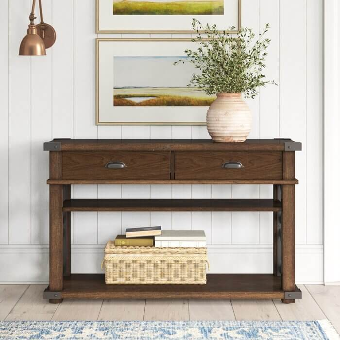 BRIDGET SOLID WOOD CONSOLE TABLE DESIGN IDEAS