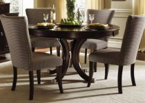 CREATIVE DARK WOOD ROBUST ROUND TABLE TOP IDEAS