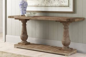 AWESOME SOLID WOOD CONSOLE TABLE IDEAS