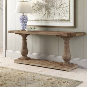 INSPIRING SOLID WOOD CONSOLE TABLE DESIGN IDEAS
