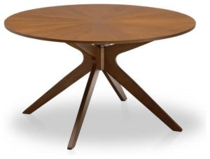 MID CENTURY ROUND WOOD DINING TABLE TOP DESIGN IDEAS