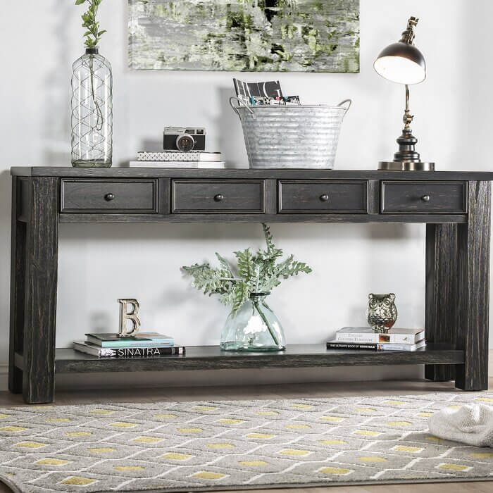 MODERN FARMHOUSE SOLID WOOD CONSOLE TABLE IDEAS