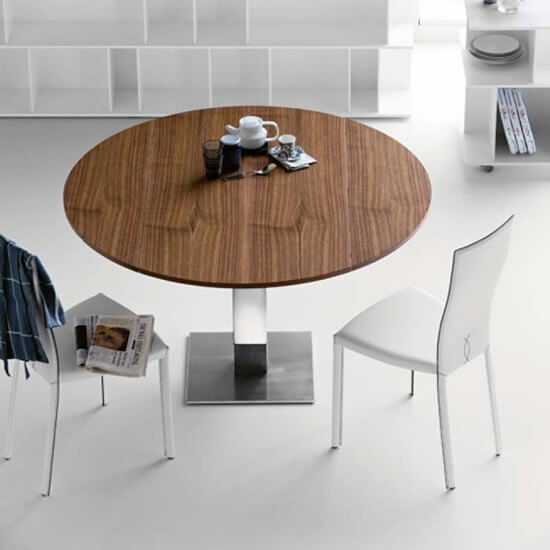 MODERN ROUND DINING TABLE WITH LEAF