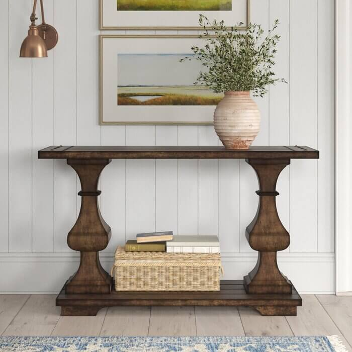 RODEY STYLE SOLID WOOD CONSOLE TABLE DESIGN IDEAS