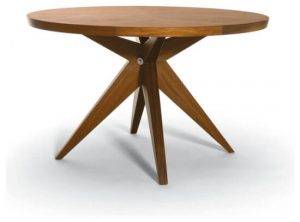 ROUND WOOD DINING TABLE TOP MINIMALISM STYLE