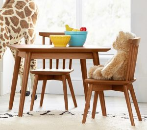ACACIA CHILDRENS WOOD TABLE AND CHAIRS SETS