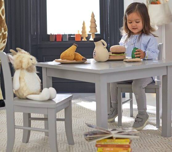CHEMICAL FREE OAK CHILDRENS WOOD TABLE AND CHAIRS SETS