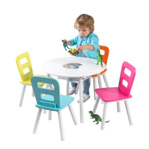 COLORFUL CHILDRENS WOOD TABLE AND CHAIRS SETS