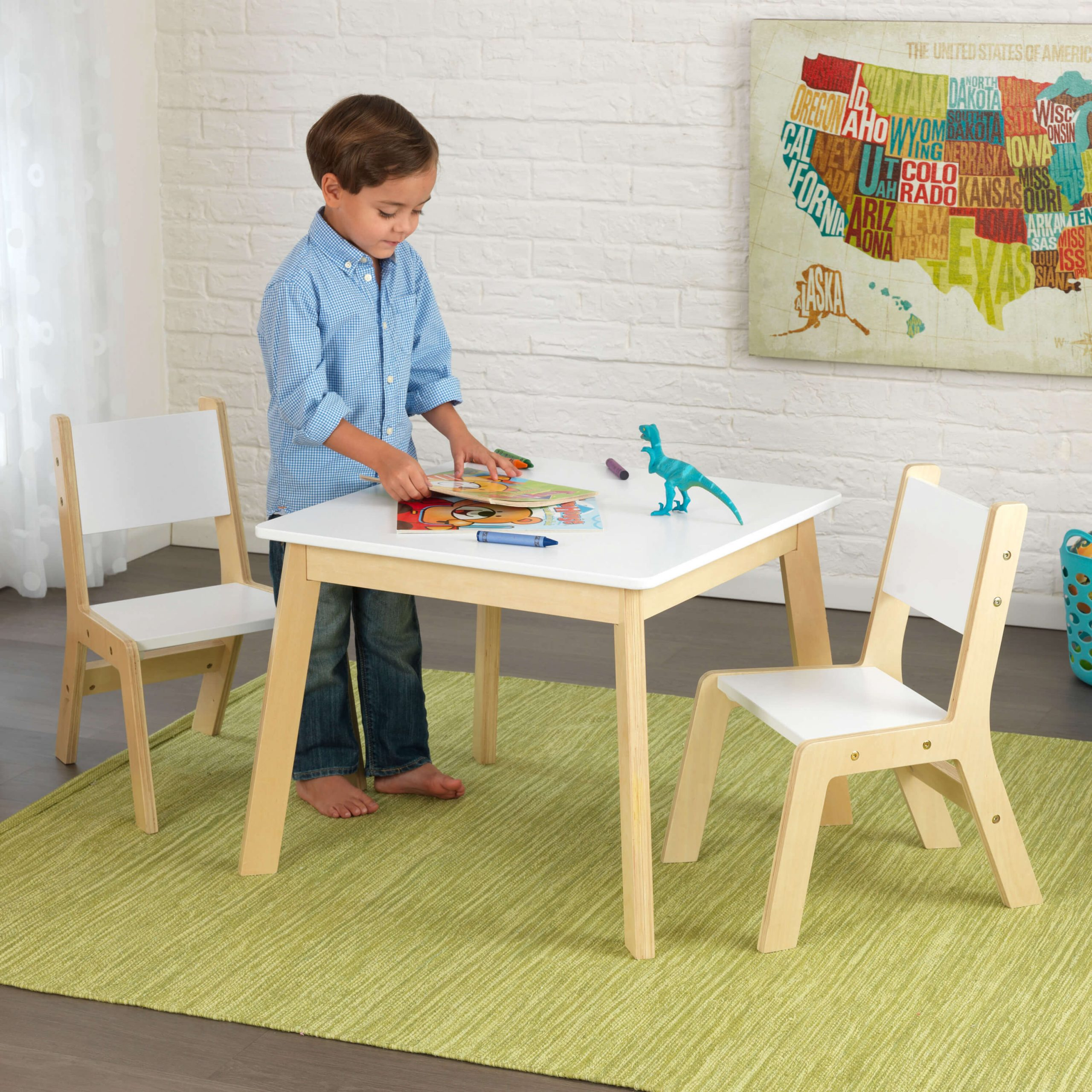 FRENCH LOOK STYLE CHILDRENS WOOD TABLE AND CHAIRS SETS