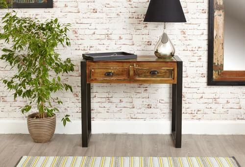 RECLAIMED WOOD CONSOLE TABLE BAUMHAUS