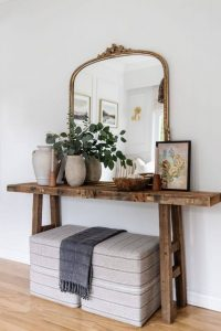 RECLAIMED WOOD CONSOLE TABLE FOR BEDROOM