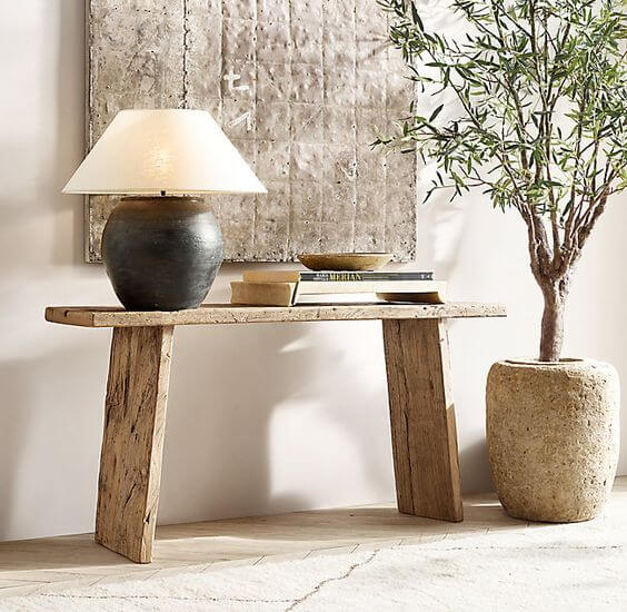 RECLAIMED WOOD CONSOLE TABLE NORDCASA BY RH