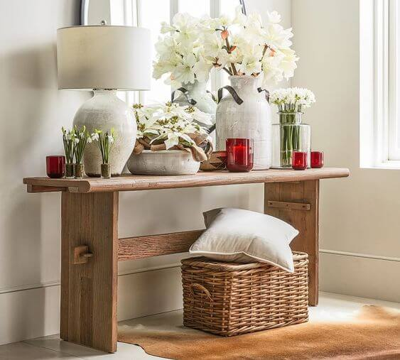 RECLAIMED WOOD CONSOLE TABLE POTTERY BARN'S EASTON