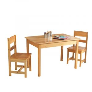 STANDARD CHILDRENS WOOD TABLE AND CHAIRS SETS