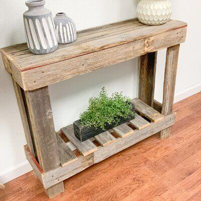 THE ATHENA RECLAIMED WOOD CONSOLE TABLE