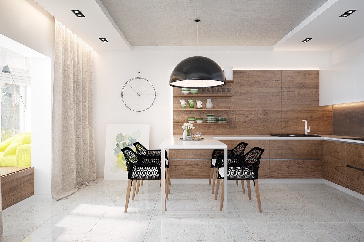 ARTISTIC LIGHT WOOD DINING TABLE