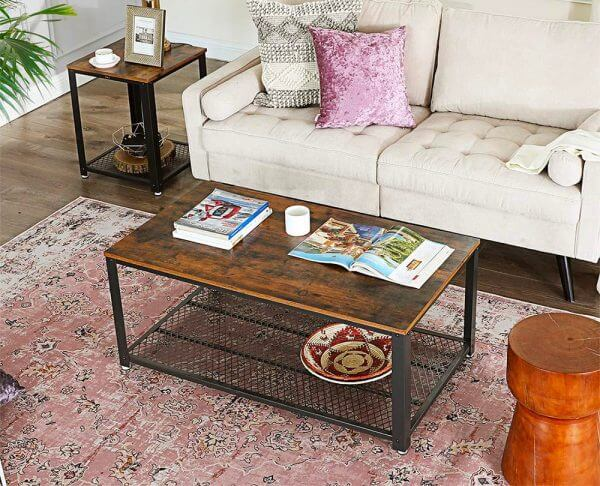 CHEAP RUSTIC WOOD COFFEE TABLE