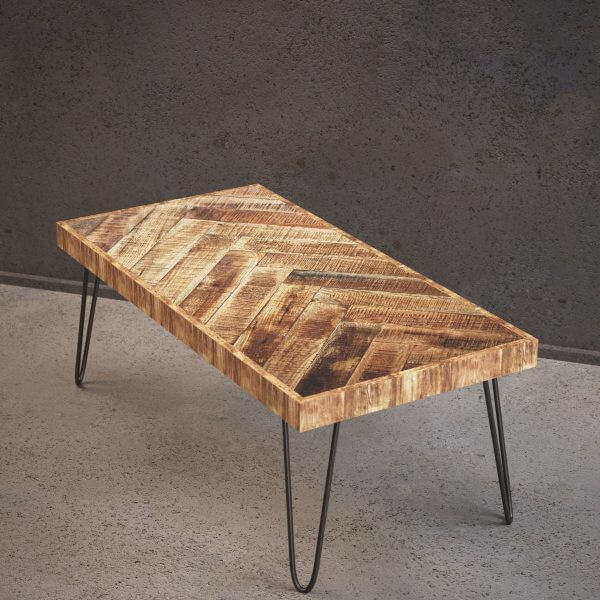 CHEVRON PATTERNED MID CENTURY AND CONTEMPORARY MIXTURE RUSTIC WOOD COFFEE TABLE IDEAS