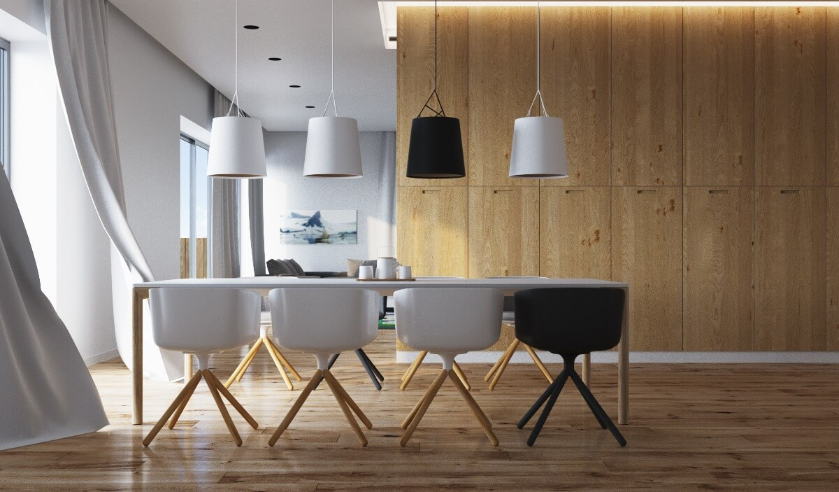 DARK AND LIGHT WOOD DINING TABLE