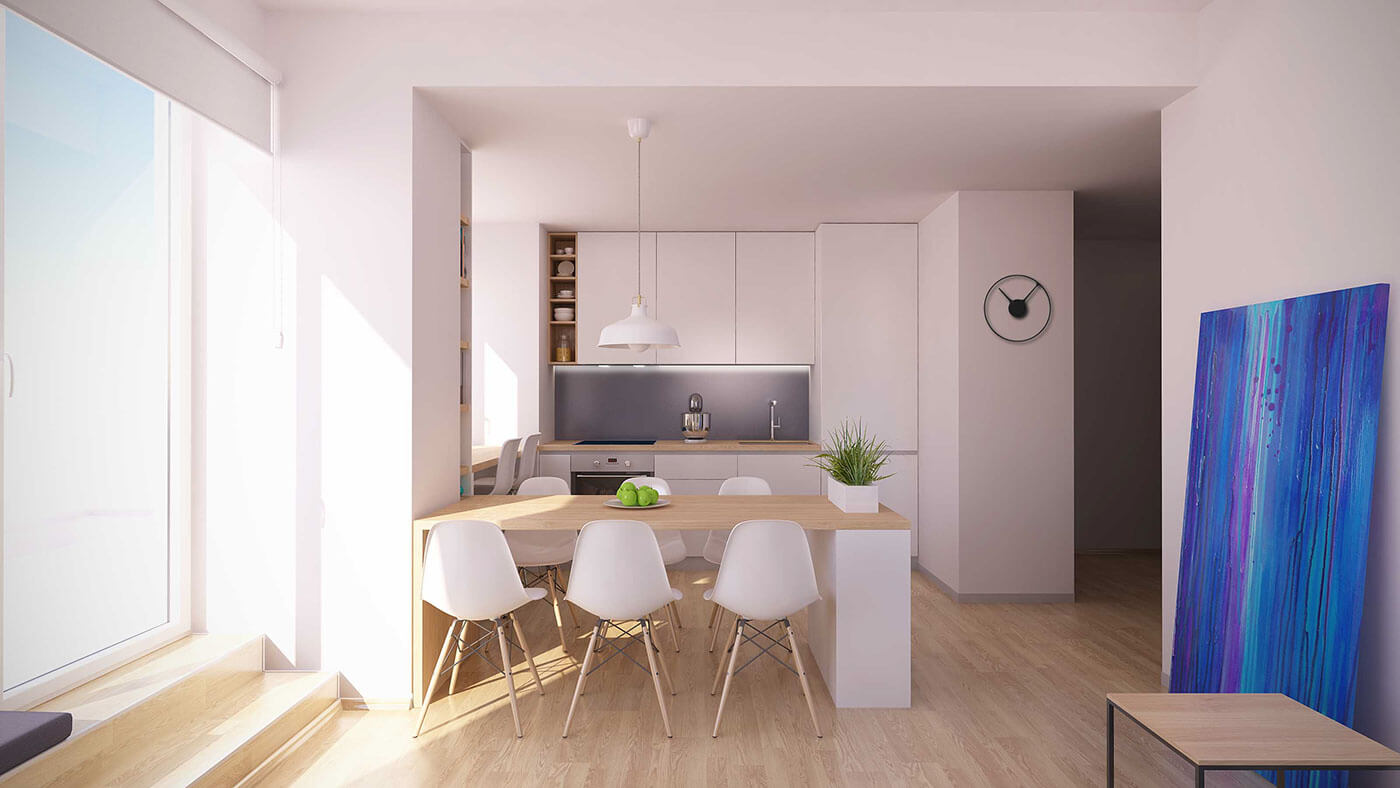MAKE MORE SPACIOUS ROOM WITH LIGHT WOOD DINING TABLE