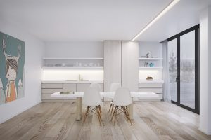 WHITE IDEAS FOR LIGHT WOOD DINING TABLE AND MINIMALISTIC HOUSE