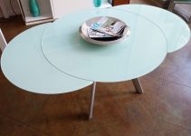 10 WOOD EXPANDABLE ROUND DINING TABLE FOR DINNER PARTY TONIGHT
