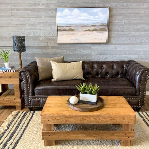 REAL WOOD COFFEE TABLE FARMHOUSE STYLE FROM DEL HUTSON DESIGNS