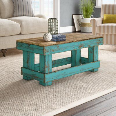 ROSECLIFF HEIGHT DISTRESSED WOOD COFFEE TABLE