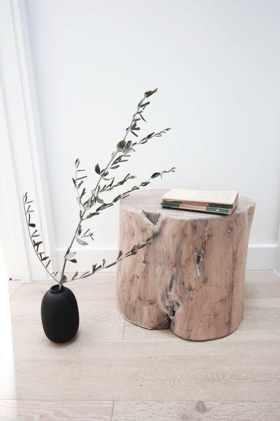 STAYING LOW WOOD STUMP SIDE TABLE