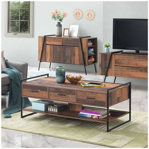 THE ABBEY REAL WOOD COFFEE TABLE