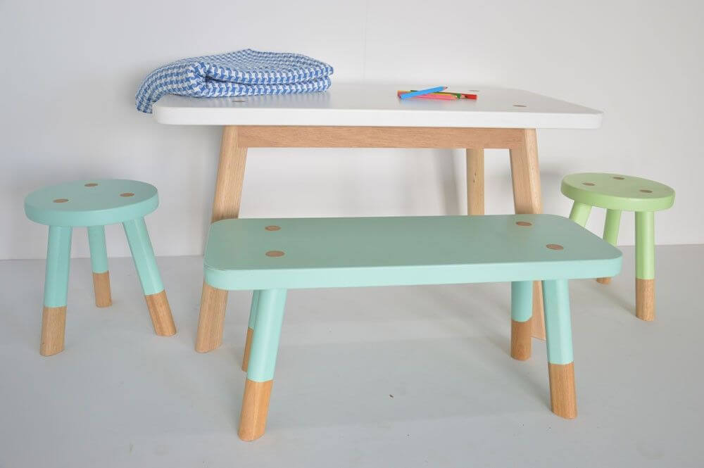 WOODEN TABLE AND CHAIR SET FOR TODDLERS BENCH WORLD