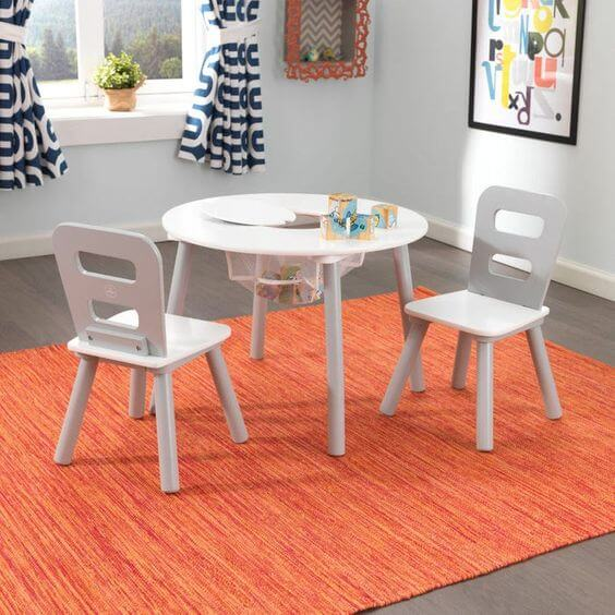 WOODEN TABLE AND CHAIR SET FOR TODDLERS KIDKRAFT ROUND SET